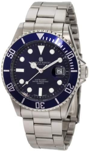 Charles-Hubert Paris Herren 3812 Classic Collection Stainless Steel Armbanduhr