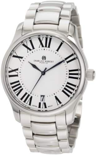 Charles-Hubert Paris Herren 3897-W Premium Collection Stainless Steel Armbanduhr