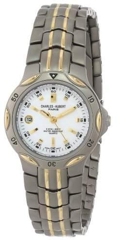 Charles-Hubert Paris Damen 6654-W Premium Collection Two-Tone Titanium Armbanduhr