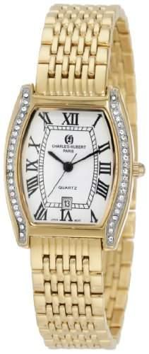 Charles-Hubert Paris Damen 6759 Classic Collection Gold-Plated Armbanduhr