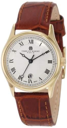 Charles Hubert Damen Leather Armbanduhr #6814-GW