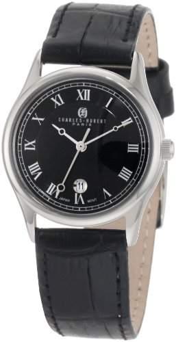 Charles-Hubert Paris Damen 6814-WB Premium Collection Stainless Steel Armbanduhr
