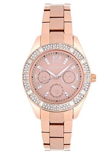 QUANTUM Damen Armbanduhr Impulse Chronograph Quarz Edelstahl beschichtet IML352 25