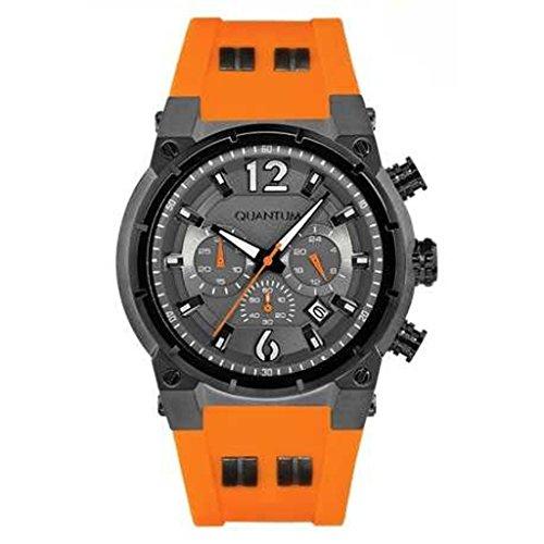 QUANTUM Armbanduhr Man PowerTech pwg453 060 Chronograph Quarz Silikon Orange CY6716 XL 48 mm