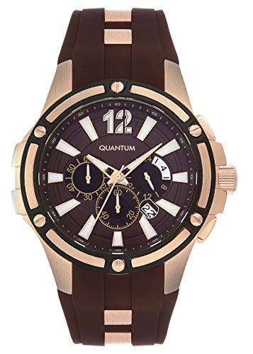 QUANTUM Herren Armbanduhr Hunter Chronograph Quarz Silikon HNG358 842