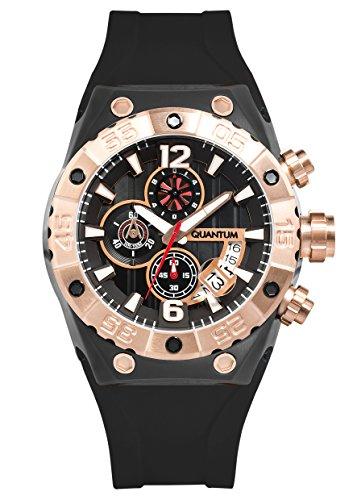 QUANTUM Herren Armbanduhr Hunter Chronograph Quarz Silikon HNG469 651