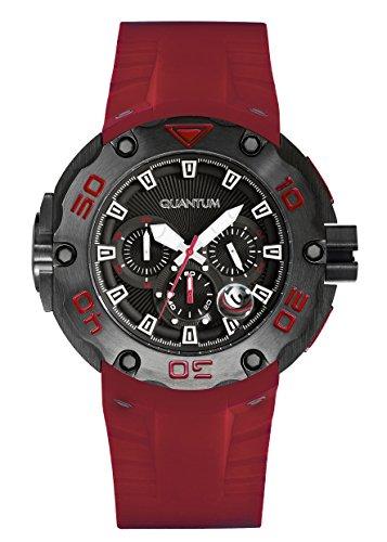QUANTUM Herren Armbanduhr Hunter Chronograph Quarz Silikon HNG470 658