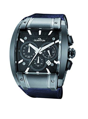 QUANTUM Herren Armbanduhr Powertech Chronograph Quarz Leder PWG224 LGG05NN
