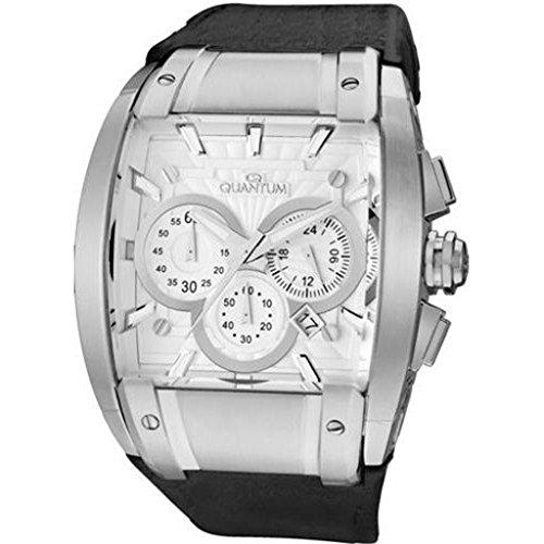 QUANTUM Herren Armbanduhr Powertech Chronograph Quarz Leder PWG224 LSS01BB