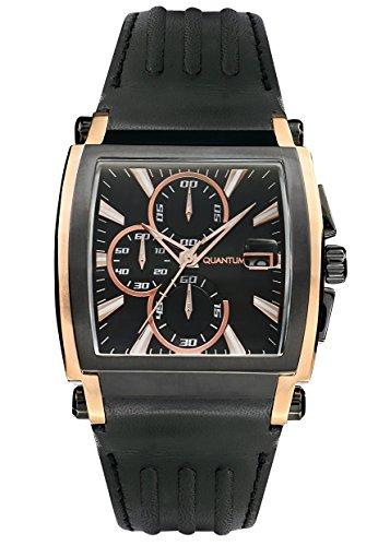 QUANTUM Herren Armbanduhr Powertech Chronograph Quarz Leder PWG364 01