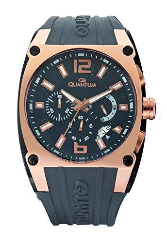 QUANTUM Herren Armbanduhr Powertech Chronograph Quarz Silikon PWG257 PGR05GG