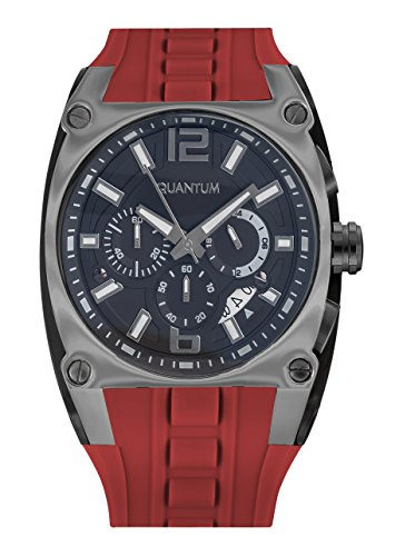 QUANTUM Herren Armbanduhr Powertech Chronograph Quarz Silikon PWG257 PGS05GY