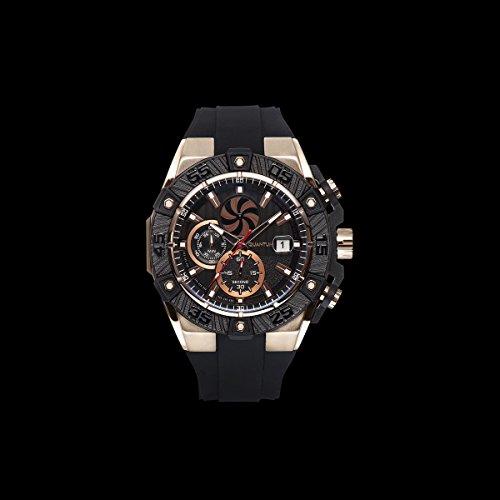QUANTUM Powertech Herrenuhr schwarz goldfarben PWG413 851