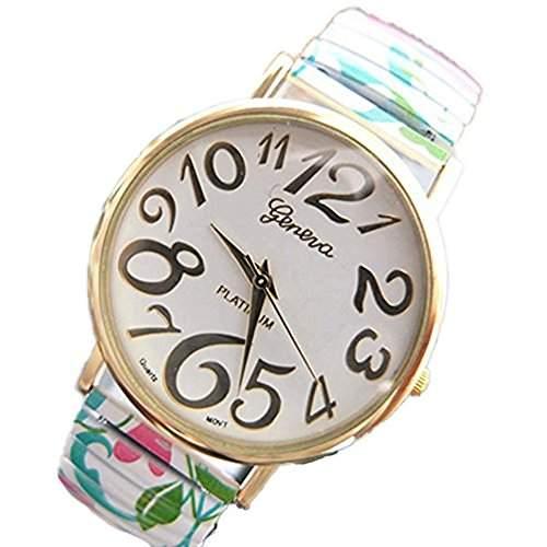 LI&HI Retro Unique Damen accessories Blaetter Gummiband Uhren Armbanduhr geometrischen Quarz uhr Lederarmband Uhr Top Watch