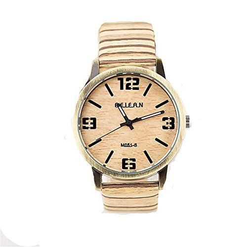 LI&HI Retro Unique Damen accessories Antik Streifen Uhren Armbanduhr Quarz uhr Anhaenger Lederarmband Uhr Top Watch Valentinstaggelb
