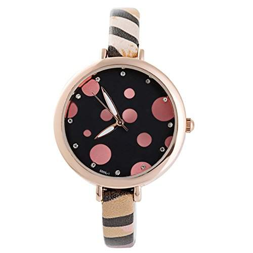 LI&HI Retro Unique Damen accessories Stelle einfachen schmalen Guertel Uhren casual Uhrenl kreative Uhren Armbanduhr Quarz uhr Lederarmband Anhaenger Uhr Top Watchrosa