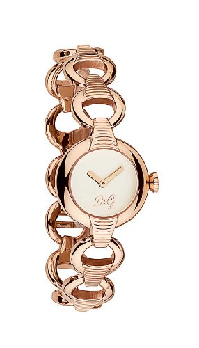 D G Dolce Gabbana PATTERN IP ROSE SLV DIAL BRC DW0344