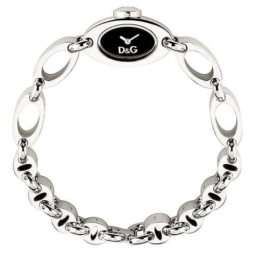D G Dolce Gabbana THREADS SS BLK DIAL BRC DW0338