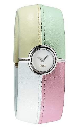 D&G Dolce&Gabbana Damen-Armbanduhr ANTIBES SLV DIAL BEIGEGRAYWTEROSE BANGLE DW0413