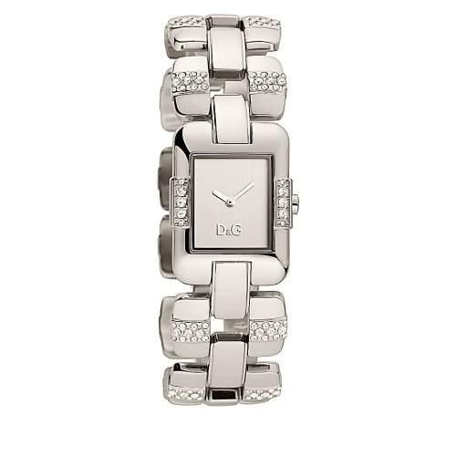 D&G Dolce&Gabbana-Damen-Armbanduhr VISIONNAIRE 2H BRC SILVER DIAL SS CASE WIT DW0466