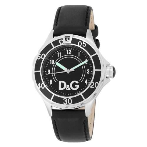 D&G Dolce&Gabbana Herren-Armbanduhr NEW ANCHOR BLACK DIAL BLACK STRAP CASE SS WBLA DW0509