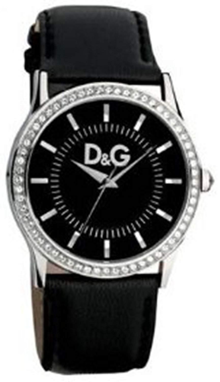 D&G Dolce&Gabbana Damen-Armbanduhr GLORIA SS BLACK DIAL SWA BLACK STRAP DW0517