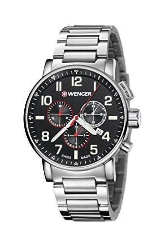 WEGNER Unisex-Armbanduhr 010343105 WENGER ATTITUDE CHRONO Analog Quarz Edelstahl 010343105 WENGER ATTITUDE CHRONO