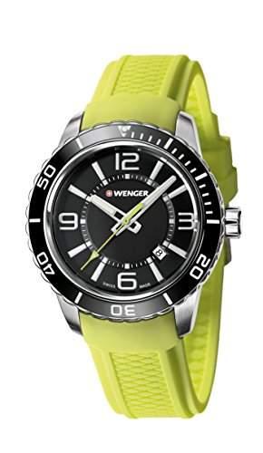 WEGNER Unisex-Armbanduhr 010851115 WENGER ROADSTER Analog Quarz Silikon 010851115 WENGER ROADSTER