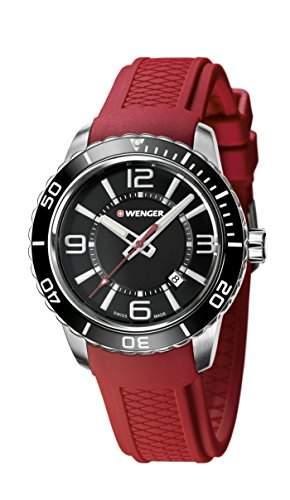 WEGNER Unisex-Armbanduhr 010851116 WENGER ROADSTER Analog Quarz Silikon 010851116 WENGER ROADSTER