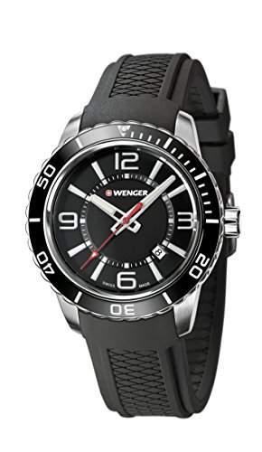 WEGNER Unisex-Armbanduhr 010851117 WENGER ROADSTER Analog Quarz Silikon 010851117 WENGER ROADSTER