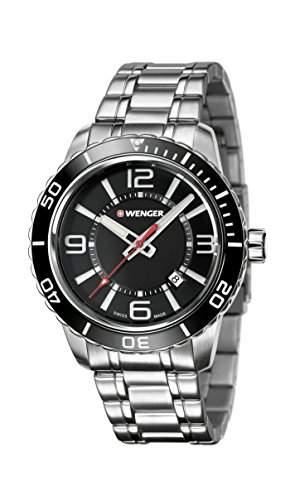 WEGNER Unisex-Armbanduhr 010851118 WENGER ROADSTER Analog Quarz Silikon 010851118 WENGER ROADSTER