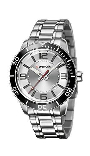 WEGNER Unisex-Armbanduhr 010851119 WENGER ROADSTER Analog Quarz Silikon 010851119 WENGER ROADSTER