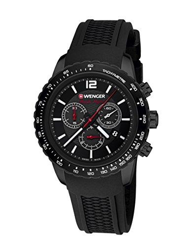 WEGNER Unisex Armbanduhr 01 0853 109 ROADSTER BLACK NIGHT CHRONO Analog Quarz Kautschuk 01 0853 109 ROADSTER BLACK NIGHT CHRONO