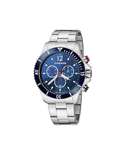 WEGNER Unisex Armbanduhr 01 0643 111 WENGER SEAFORCE CHRONO Analog Quarz Edelstahl 01 0643 111 WENGER SEAFORCE CHRONO
