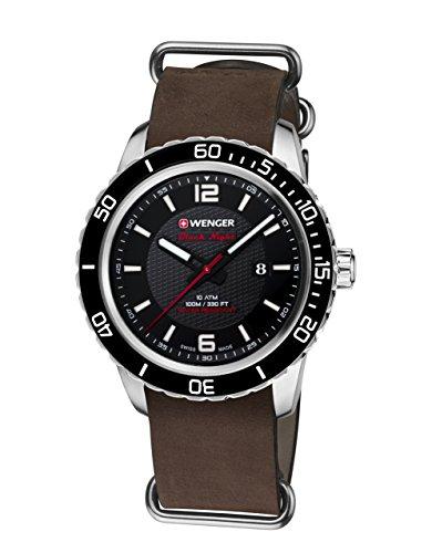 WEGNER Unisex Armbanduhr 01 0851 121 ROADSTER BLACK NIGHT Analog Quarz Leder 01 0851 121 ROADSTER BLACK NIGHT