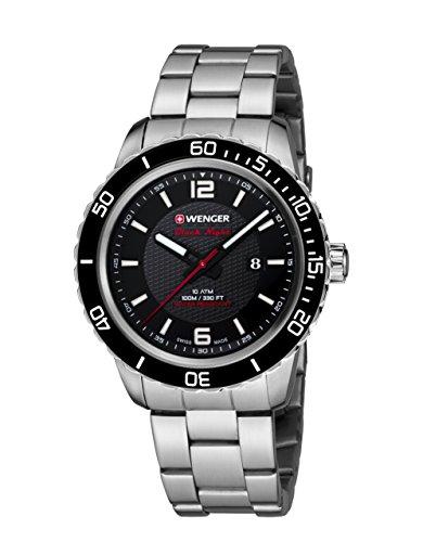 WEGNER Unisex Armbanduhr 01 0851 122 ROADSTER BLACK NIGHT Analog Quarz Edelstahl 01 0851 122 ROADSTER BLACK NIGHT