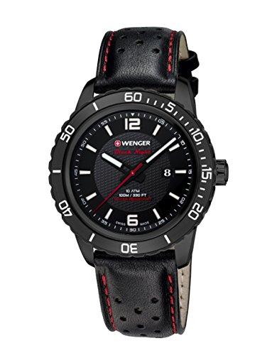 WEGNER Unisex Armbanduhr 01 0851 123 ROADSTER BLACK NIGHT Analog Quarz Leder 01 0851 123 ROADSTER BLACK NIGHT