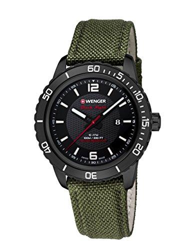 WEGNER Unisex Armbanduhr 01 0851 125 ROADSTER BLACK NIGHT Analog Quarz Nylon 01 0851 125 ROADSTER BLACK NIGHT