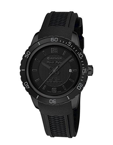 WEGNER Unisex Armbanduhr 01 0851 126 ROADSTER BLACK NIGHT Analog Quarz Kautschuk 01 0851 126 ROADSTER BLACK NIGHT