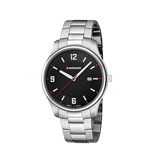 WENGER Unisex Armbanduhr Analog Quarz Edelstahl 01 1441 110
