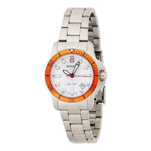 Wenger Womens 72327 Battalion Diver II Silver Dial Stahl Armbanduhr