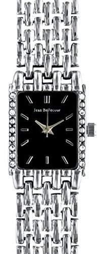 Jean Bellecour reds24 sb Quarz Analog Zifferblatt schwarz Armband Stahl versilbert
