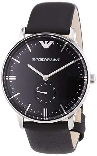 Emporio Armani Herren-Armbanduhr XL Analog Quarz Leder AR0382