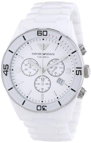 Emporio Armani Herren-Armbanduhr XL Chronograph Quarz Keramik AR1424