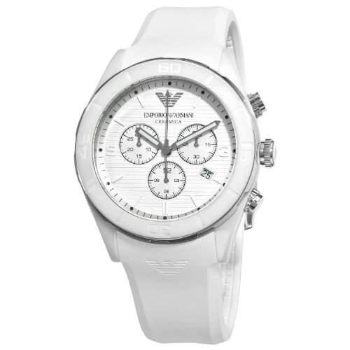 Emporio Armani Herren-Armbanduhr XL Chronograph Quarz Kautschuk AR1435
