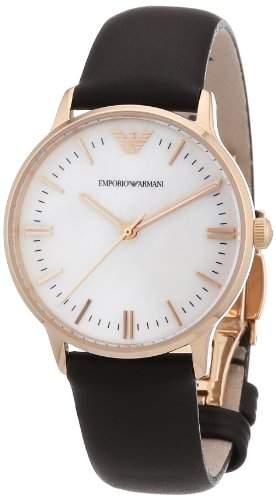 Emporio Armani Damen-Armbanduhr XS Analog Quarz Leder AR1601