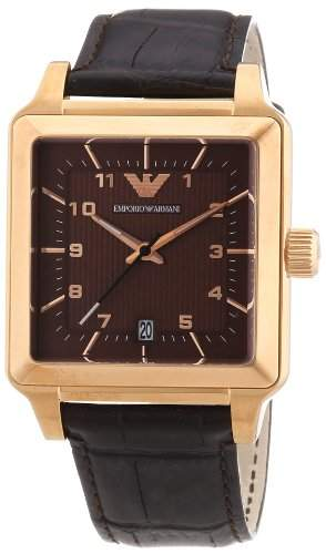 Emporio Armani Herren-Armbanduhr Analog Quarz Leder AR1622
