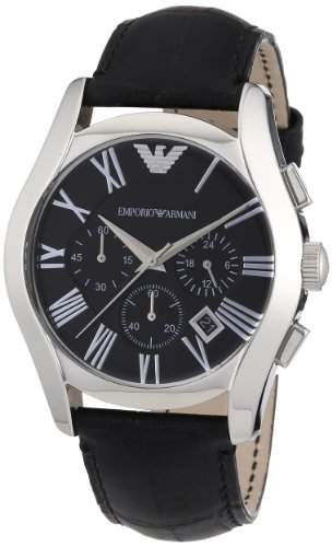 Emporio Armani Herren-Armbanduhr XL Chronograph Quarz Leder AR1633
