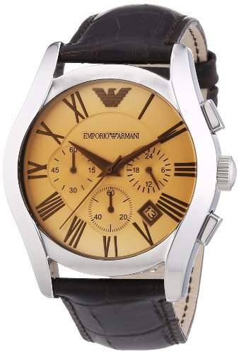 Emporio Armani Herren-Armbanduhr XL Chronograph Quarz Leder AR1634