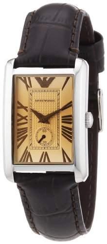 Emporio Armani Damen-Armbanduhr Classic Marco Analog Quarz Leder AR1637